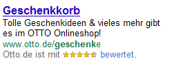 adwords produktsuche bewertungen Seller Rating Extensions SEA