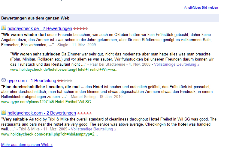 google bewertungen Seller Rating Extensions SEA